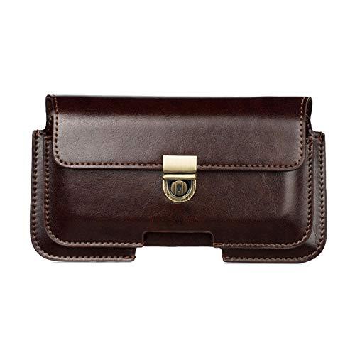 Funda de cuero universal para Samsung iPhone/Huawei/HTC/LG/xiaomi caso doble bolsa hombres cintura bolsa monedero