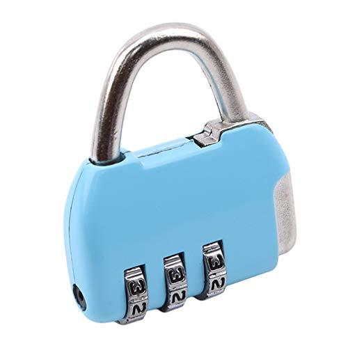 #N/A AOPEI Candado de combinación de 3 dígitos para equipaje, con cable de combinación de aluminio, rojo