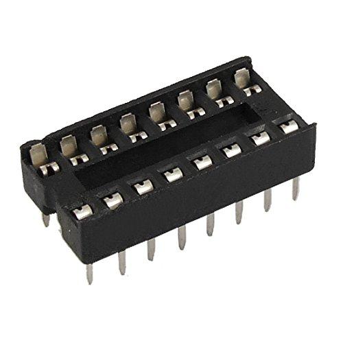 uxcell 30 Pcs 16 Pin 2.54mm DIP IC Socket Solder Type Adaptors