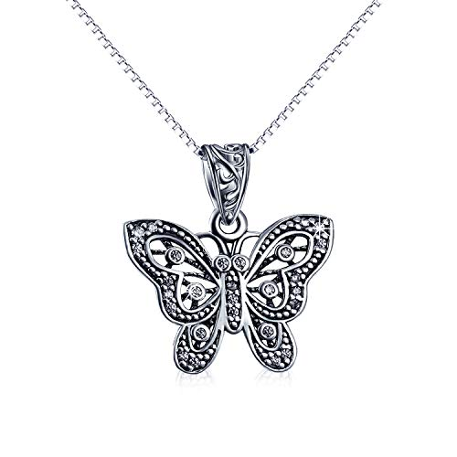 Butterfly Necklace Sterling Silver Abalone Shell Butterfly Pendant Necklace Heart Celtic Knot Jewelry Gifts for Women