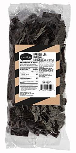 Soft Australian Black Licorice - Darrell Lea 1.925 lb Bulk Bag - NON-GMO, NO HFCS & Kosher - America's #1 Soft Eating Licorice Brand!