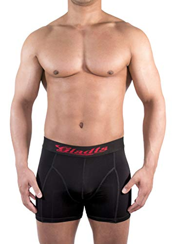 Gladts heren boxershort bx class zwart 2 stuks maat S - XL