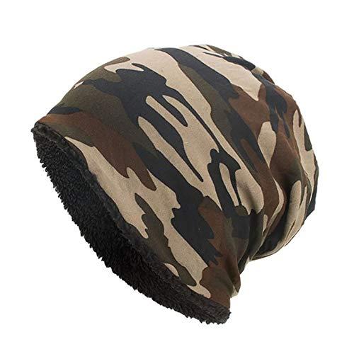 EROSPA® Winter-Mütze Beanie - Herren Damen Unisex Cape - Camouflage Braun