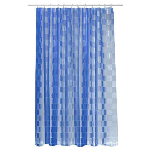 wasserdichter Mehltau Badezimmer Duschvorhang blau kleines Quadrat schnell trocknend & müheloszu