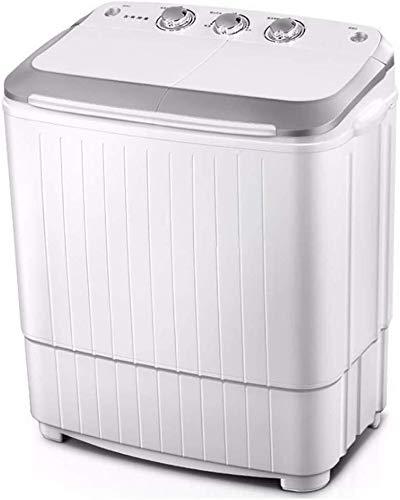 QUZHCP lavadora portátil, Lavado Compacto Portátil De La Máquina - Doble Tambor De La Lavadora Y Secadora Con La Vuelta De Lavado Y Centrifugado Del Ciclo De Compartimentos De 5 Kg Capacidad De Lavado