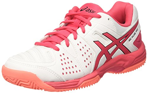 Asics Gel-Padel Pro 3 SG, Zapatillas de Tenis Mujer, Multicolor (White/Rouge Red/Flash Coral), 37.5 EU