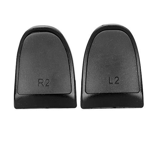 Mittlere Härte Einfach zu installierende Soft Touch Anti-Rutsch-L2 R2-Extender-Tasten für PS4(Black, 1 Set of 2)