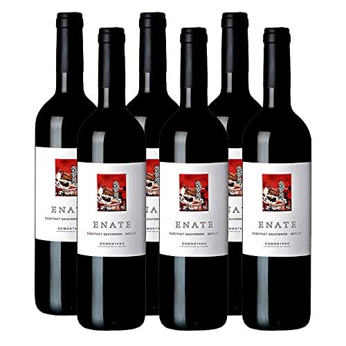 Vino Tinto Enate Cabernet Sauvignon-Merlot de 50 cl - D.O. Somontano - Bodegas Enate (Pack de 6 botellas)