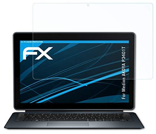 atFolix Schutzfolie kompatibel mit Medion AKOYA P3401T Folie, ultraklare FX Bildschirmschutzfolie (2X)