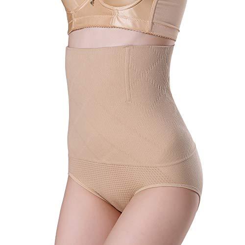 Budermmy Culotte Gainante Femme Panty Taille Haute Sculptantes Invisible Minceur avec Armature Body Gaine Amincissante Ventre Plat (Beige, EU M(Asian M/L))