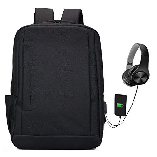 Faukku Sac à Dos pour Ordinateur Portable léger avec Port de Charge USB Sacoche d'ordinateur collégial résistant à l'eau et résistant à l'eau pour 14 Ordinateur Portable de 15,6 Pouces,Black