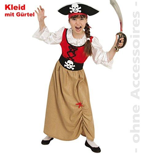 Piratenbraut Pirat Piratenmädchen Kinder Kostüm Gr 128