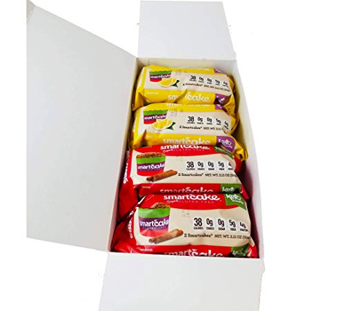 COMBO SMARTCAKE BUNDLE: 2 LEMON TWIN PACKS AND 2 CINNAMON TWIN PACKS: GLUTEN FREE, SUGAR FREE, LOW CARB SNACK CAKES: TOTAL OF 4x twin packs