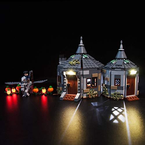 POXL LED Beleuchtungsset Licht Set Für Lego Harry Potter Hagrids Hütte: Seidenschnabels Rettung - LED-Kabel Licht Kit Für Lego 75947 - Ohne Lego Set