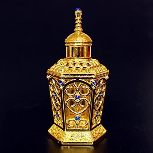 CHEN-C Botella de Spray 1pc 10ml Vintage Metal Perfume Botella de Perfume Árabes Unidos Aceites Esenciales Eminal Botella Contenedor Medio Oriente Anding Decoración Regalo Dispensador de Perfume