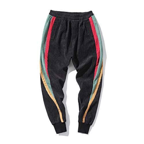 Pantalones Deportivos para Hombre, a la Moda, con Costura en Contraste, cordón, Cintura elástica, Pantalones Harem, Gimnasio al Aire Libre, Ejercicio, Correr, Pantalones para Correr M