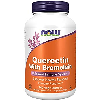 NOW Foods Supplements Quercetin with Bromelain Balanced Immune System 240 Veg Capsules