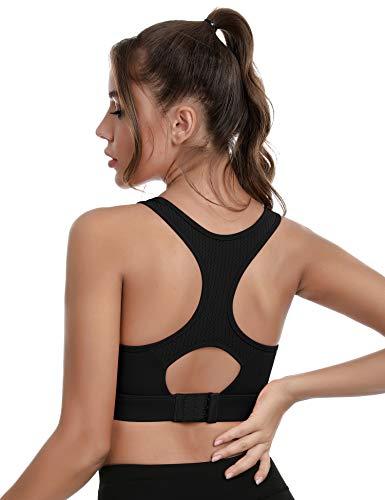Aibrou Reggiseni Sportivi Donna,Sport Bra con Senza Ferretto Imbottito Removibile Yoga Fitness Top