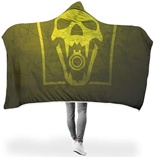 NC83 Vleermuisdeken Yellow Green Skull Patroon Print Premium Vrije tijd dragen Robe Hood - Kleurrijke oversized voor volwassenen/vrouwen/mannen