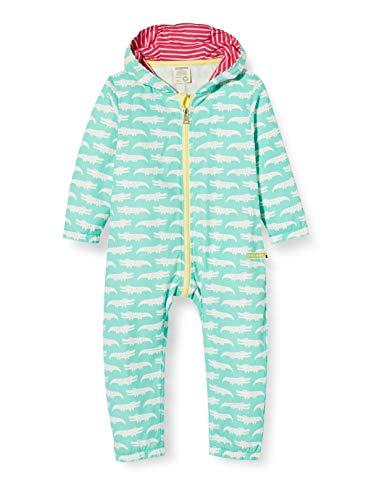 loud + proud Baby-Mädchen Outdoor Overall Organic Cotton Strampler, Grün (Mint Min), (Herstellergröße: 86/92)