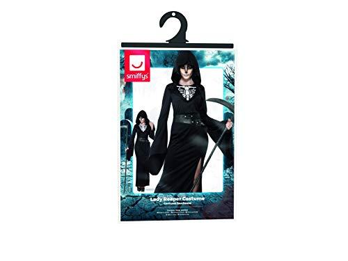SMIFFYS Costume Lady Reaper, Nero, con Abito e Cintura