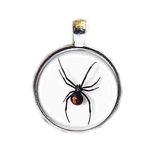 Colar com imagem de arte, pingente de aranha da viúva negra, colar de aranha da viúva negra, joia de aranha, colar de Halloween, um presente de amor