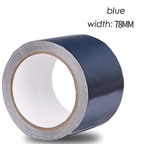 Reparatietape voor vrachtwagens, waterdicht, plakband, canvas, crèpe, waterdichte doek, drie anti-kleding, band voor tarp, tent, luifel, cover, zeil 78 mm wide x 8 m long Dark Blue