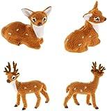 ミニチュアガーデン装飾 4枚用素敵なミニディアフェアリーガーデンミニチュアDIYクラフト