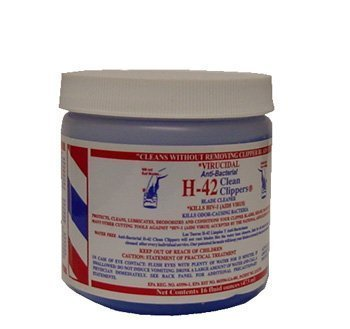 H42 Clipper Cleaner 16 Oz. Jar Virucidal Anti-bacterial by H-42
