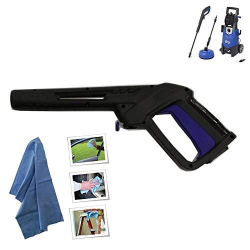 parpyon Pistola per Idropulitrice ANNOVI REVERBERI - AR Blue Clean - Black&Decker Attacco rapido per Tubo Acqua - Accessori ricambi idropulitrici + Omaggio Panno (AR41561)