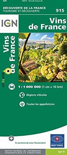 FRANCE CARTE DES VINS: 1/1 000 000
