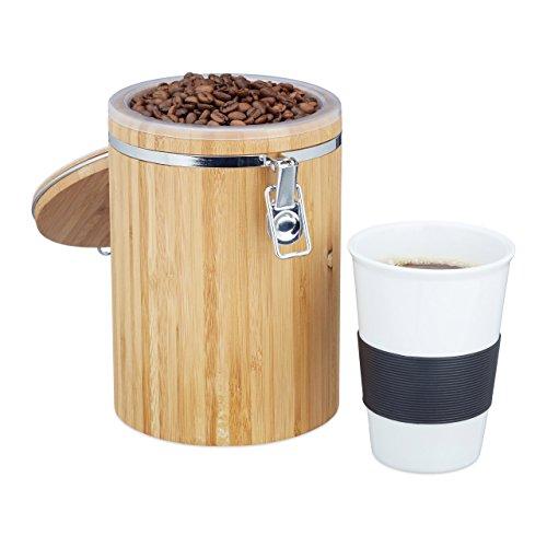 Relaxdays Boîte à café bambou boîte...