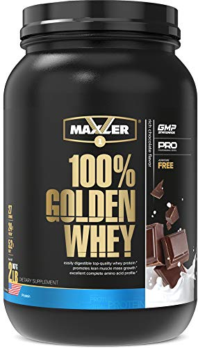 Maxler 100% Golden Whey - 24g of Premium Whey Protein Powder per Serving - Premium 100% Whey Protein Powder, High Protein, Low Fat, Low Carb, Complete Amino Acid Profile - Rich Chocolate 2 lbs