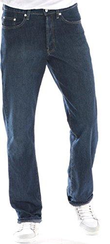 Full Blue Big & Tall Men's Denim Jeans Stretch Fabric Medium Blue