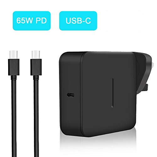 aifulo 65W USB C PD Charger, Universal USB Type C Fast Power Adapter Charger Compatible with Nintendo Switch, Macbook Pro, Samsung, ASUS, Dell, Lenovo, Acer, HP, Huawei and more USB C Devices