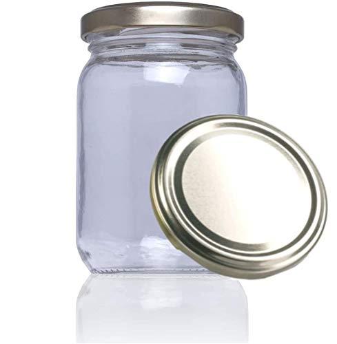Tarros de cristal con tapa para conservas caseras legumbres, pastas, botes cristal con tapa frascos con tapa para chuches