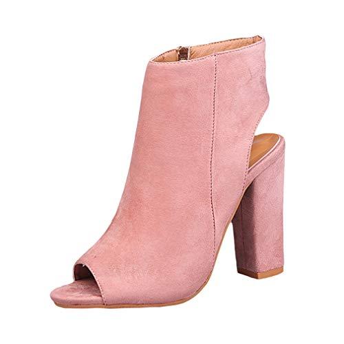 Juleya Damen Blockabsatz High Heels Sandaletten - Frauen Peep-Toe Schuhe Modische Abendschuhe...