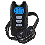 Dog Training Collar, Shock Collar for Dogs with Remote, Rechargeable Dog Shock Collar, with Beep/Vibration/Shock,100% Waterproof, 1000 ft Remote Trainer Range Collar for Small Medium Large Dogs.