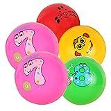 Tomaibaby 5Pcs Balles de Jeu pour Enfants Kickball Gonflable Handball Dodgeball Jeux Amusants Activités Couleur Aléatoire