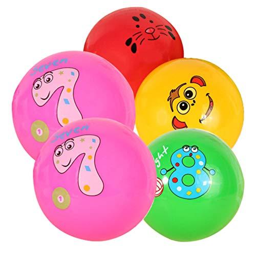 Tomaibaby 5 Stück Spielplatzbälle für Kinder Aufblasbare Kickball Handball Völkerball Spaß Spiele Aktivitäten Zufällige Farbe