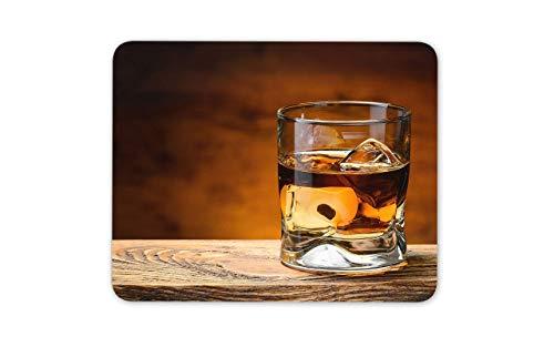 WOTAKA Gaming-Mauspad,Eiche gereifte Whisky Rocks,Rutschfest Verschleißfestes Und Haltbares Gummi,Mousepad Für Bürocomputer,9.5