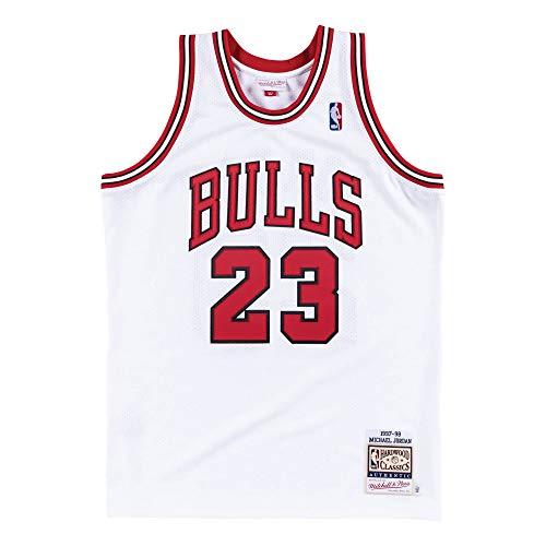 Mitchell & Ness Chicago Bulls Authentic Michael Jordan #23 White 1997/98 Hardwood Classics Home Jersey (X-Large)