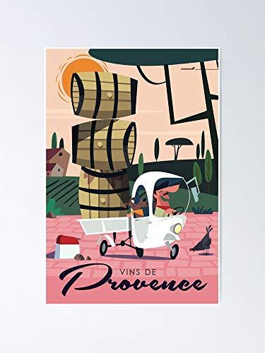 Póster de vino de Provence