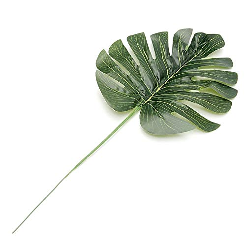 Olatokolaos Simple Green Artificial Monstera Leaves Spray Fern Leaf Plant Tree Branch Holiday Table Decor - Jewelry Bottle Garland Fake Monstera Case Fern Punch Leather Pencil