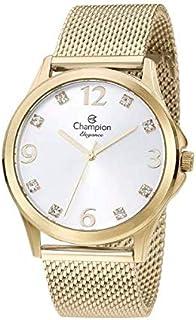 Relógio Feminino Champion Analógico Dourado Pulseira Mesh CN24093B
