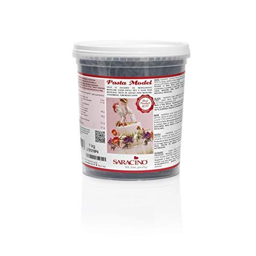 Saracino Pasta Di Zucchero Model Nera Per Modellaggio Da 1 Kg Senza Glutine Made In Italy