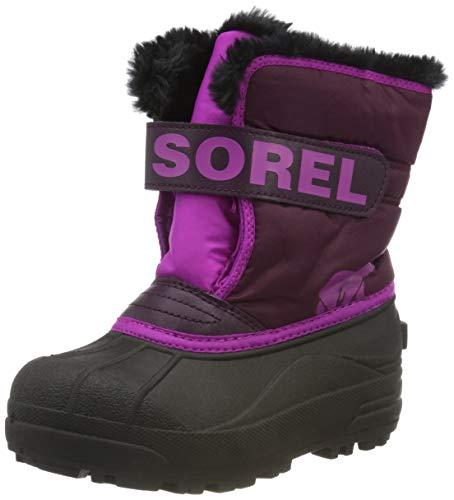 Sorel Unisex-Kinder-Winterstiefel, CHILDRENS SNOW COMMANDER, Lila/Rosa (Purple Dahlia, Groovy Pink), Größe: 29
