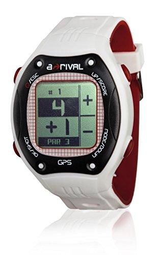 """a-rival Qaddy GPS Golf Uhr, IPX-4 Norm Spritzwassergeschützt, weltweite Golfplatzkarten-Abdeckung, Scorecard, Schlag-Distanz, Pars, Entfernungsmesser, 1,2"""" LCD-Display"""
