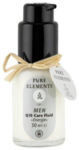 Pure Elements Naturkosmetik | Chi Men Q 10 Care Fluid Energie | Feuchtigkeitsspendendes Fluid für den Mann | 30 ml