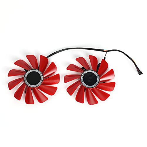 inRobert FDC10U12S9-C Video Card Fan Replacement Red Fan for XFX RX 570 RS...